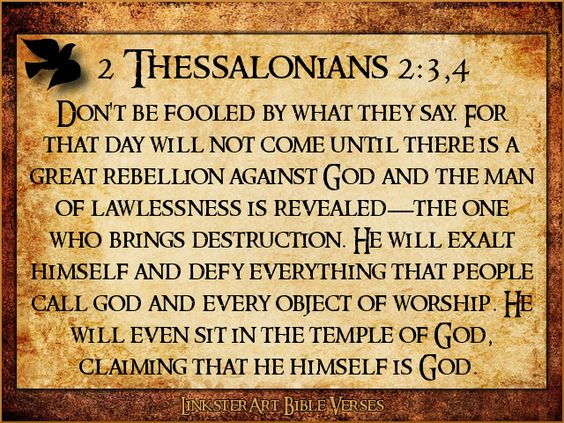 2 thessalonians 2 3 4 new living translation the word