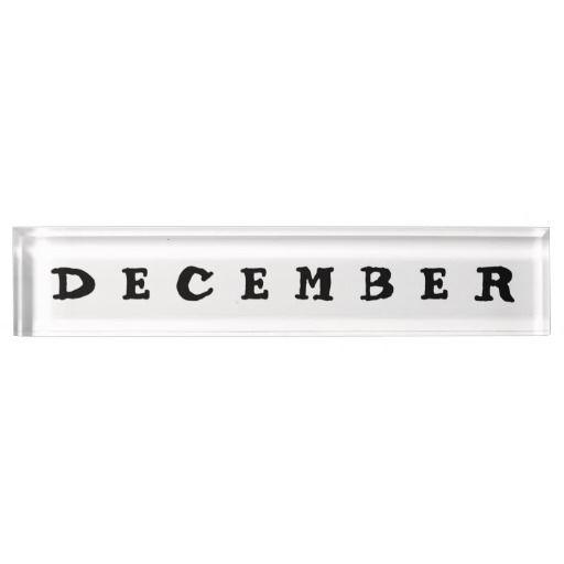December Desk Nameplate Design from Calendars by Janz