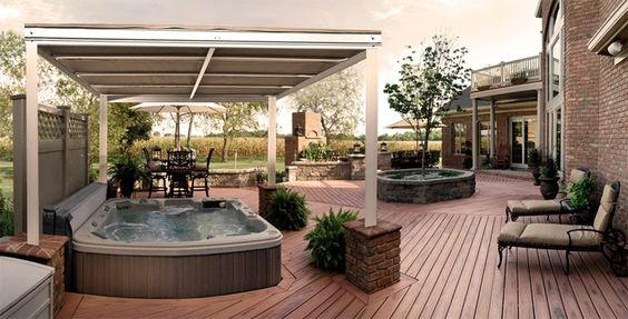 hot tub canopy gazebo | retractable canopy over hot tub | jacuzzi decks with awning | Pinterest | Retractable canopy Jacuzzi and Hot tubs & hot tub canopy gazebo | retractable canopy over hot tub | jacuzzi ...