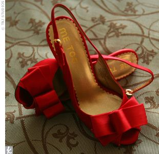 Red bridal shoes :)