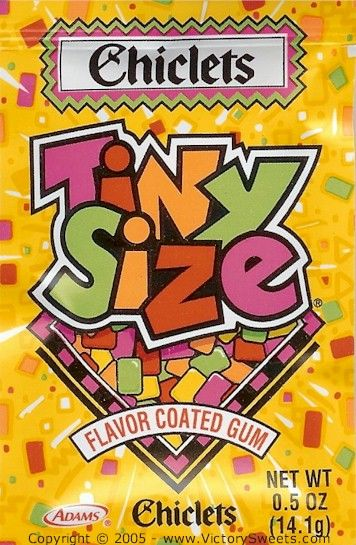 Chicklets Tiny Size gum   candy store   Pinterest   My mom, For ...
