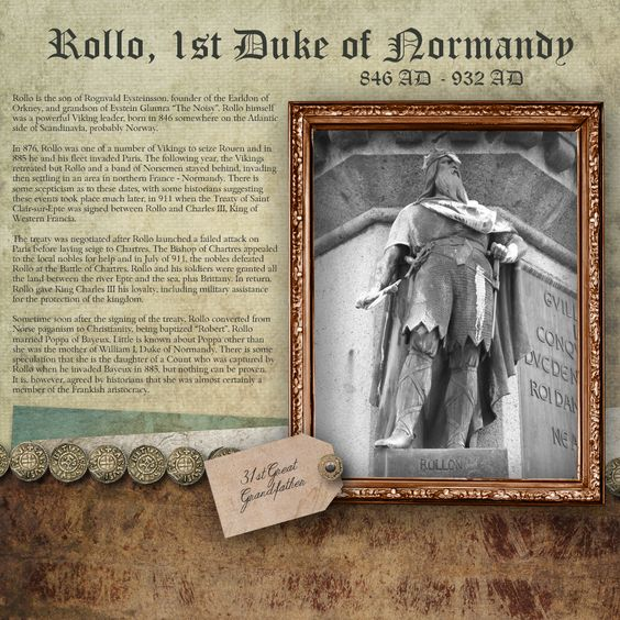 Layout – Rollo of Normandy – Dashing Shadow Designs