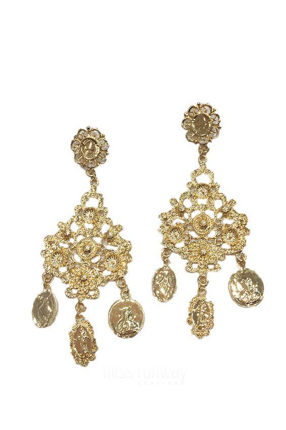 Miss Runway Fashion - All Saints Earrings - Gold
