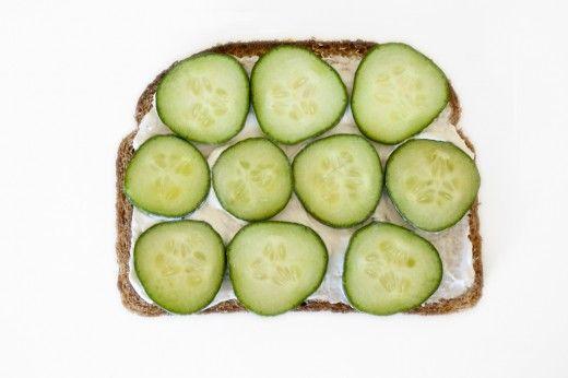 Cucumber Tea Toast