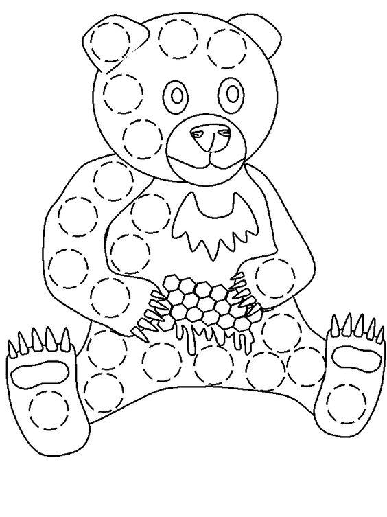 Bingo Dauber Bear Sheet