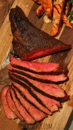 Smoky Joe Rubbed Tri Tip. Slow smoked tri tip with an amazing coffee and chili powder rub.