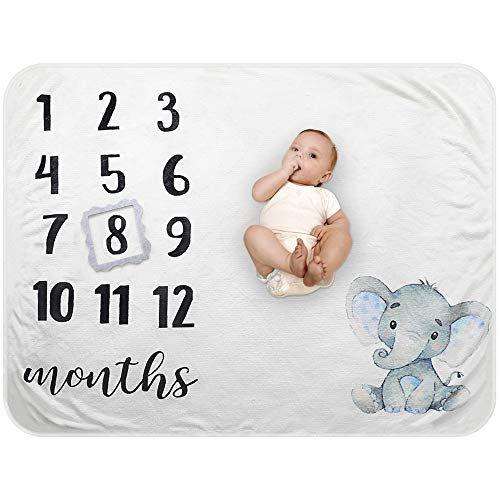 Milestone Blanket Newborn Photography Fleece Baby Monthly Blanket Shower Gift