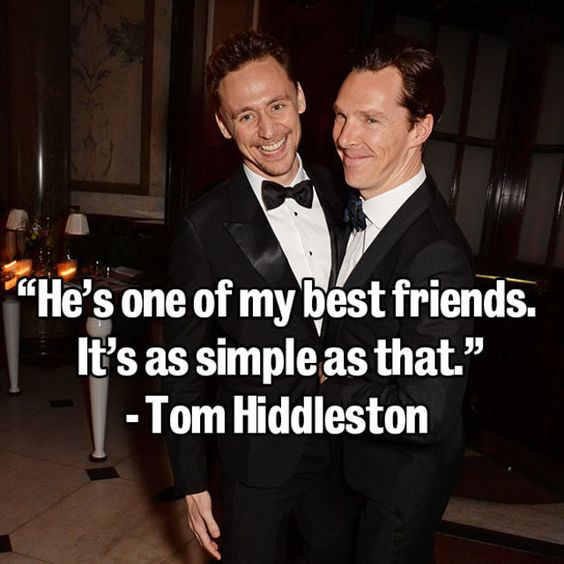 35. This bromance. Always. | 39 times the internet fell in love with Benedict Cumberbatch: