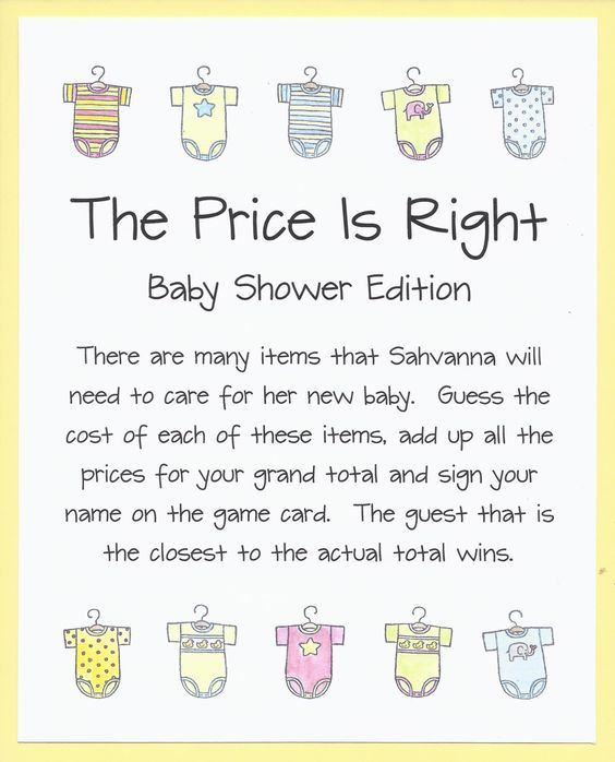Attractive Baby Shower Game   The Price Is Right92 Pack Pampers $24.99 448 Count Wipes  $13.89 3 Pack Avent Bottles $15.59 Tommee Pacifiers $5.99 Gerber Onesieu2026