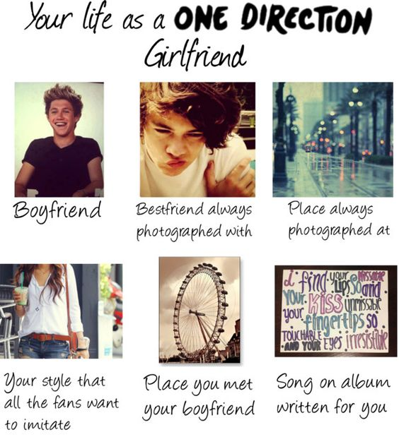 """""""Your life as a One Direction Girlfriend"""" by caitlynroseofficial ❤ liked on Polyvore"""
