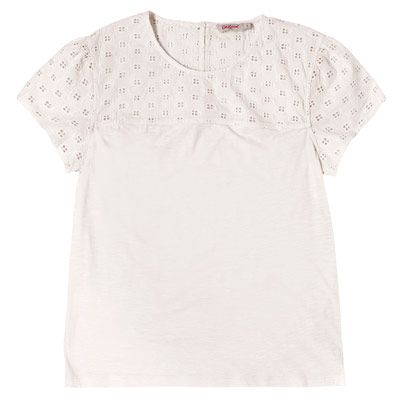 Broderie Panel T-Shirt