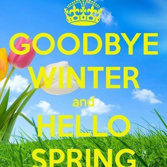 Goodbye Winter And Hello Spring Spring Spring Quotes Happy Spring Hello Spring Goodbye Winter First Day Of Spring Hello Spring Quotes Spring Quotes Spring Meme