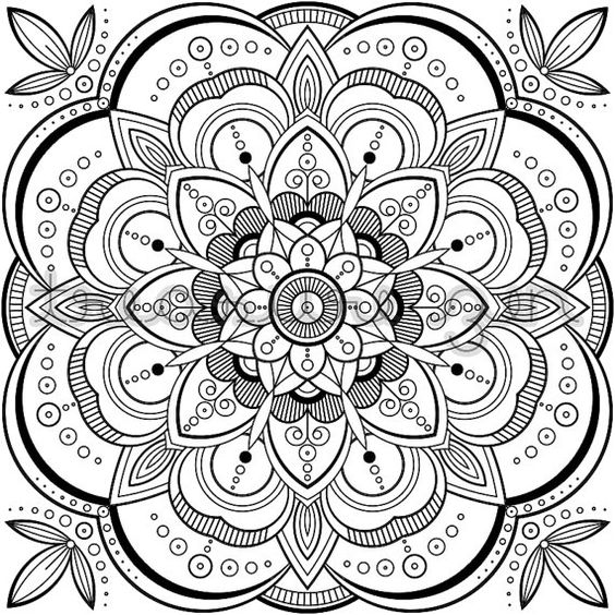 PDF Mandala Coloring Book Page  Printable Adult by TreasureZen
