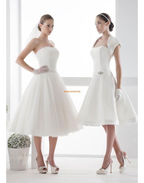 Giardino / Outdoor Vestitini bianchi Senza Spalline Abiti Da Sposa 2014