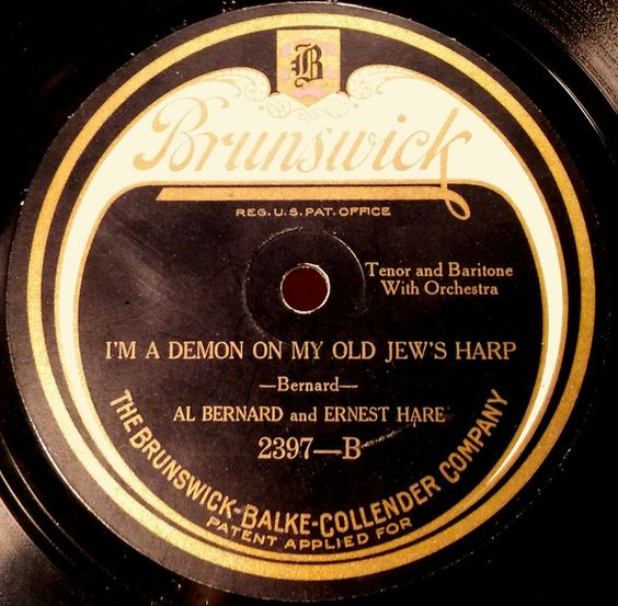 Al Bernard And Ernest Hare - Lindy Lou / I'm A Demon On My Old Jew's Harp (Shellac) at Discogs: