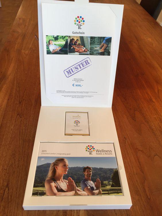 Wellnessgutschein in hochwertiger Gutscheinbox mit Babor Fluid-Set und Katalog. Jetzt bestellen! #Geschenkidee #Weihnachtsgutschein
