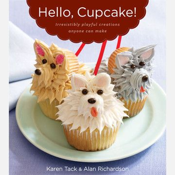 hello, cupcake! by karen tack: I've made three different cupcakes from this book. It has great tips, and the cupcake designs are amazing. I'm not a real cooking person, but I loved doing these.