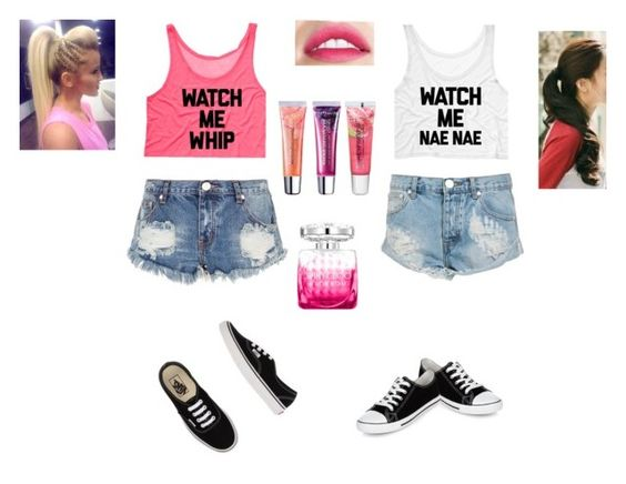 """Bffs"" by banana-cupcake ❤ liked on Polyvore featuring One Teaspoon, Vans, Marlangrouge, Maybelline and Jimmy Choo"