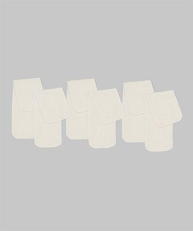 White Bum Pad Diaper Insert - Set of Six by incredibum #zulily #zulilyfinds