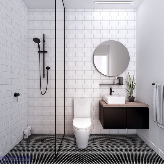 صور ديكورات حمامات مودرن افكار واشكال حمامات صغيرة وكبيرة Simple Bathroom Bathroom Design Small Small Bathroom Remodel