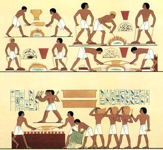 Trabajadores egipcios fundiendo cobre traído de Retjenu. Tumba del visir Rekhmire (ca. 1460-1430 BCE). Necrópolis de Sheikh Abd el-Qurna (#Thebes #Egypt) TT100