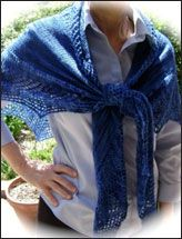 Beyond Blue Horizon Lace Shawl
