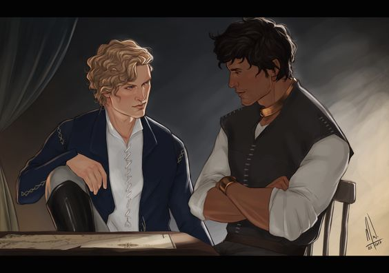 What I love the most about Prince's Gambit is how Damen and Laurent go from enemies to allies. Two princes, two men trying to prevent war between their two nations.