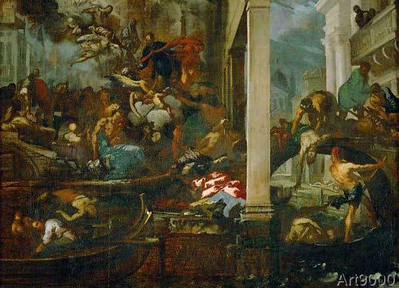 Antonio Zanchi - The plague in Venice