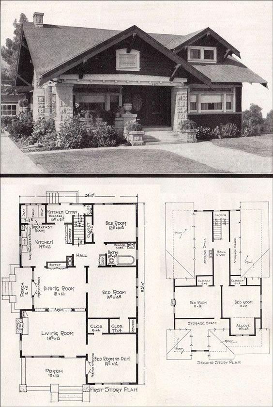 Bungalows california bungalow and bedrooms on pinterest for California bungalow house plans