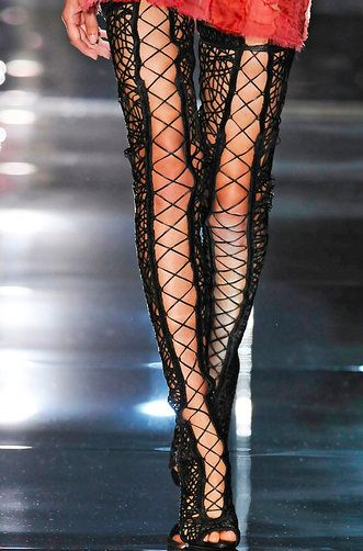 Tom Ford&39s Elaborate Bondage-Inspired Lace-Up Boots  Stockings