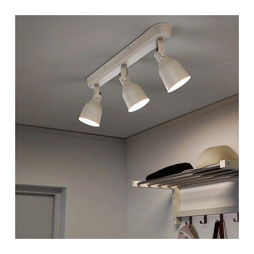 Hektar Plafondrail 3 Spots Beige Ikea Ikea Ceiling Ikea Lamp