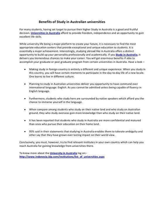 benefits-of-study-in-australian-universities by Juneja Seth via Slideshare