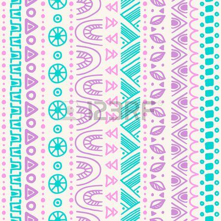 27173234 tribal rayas sin patron dibujado a mano de fondo