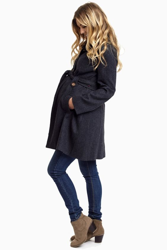 Navy-Bue-Maternity-Coat