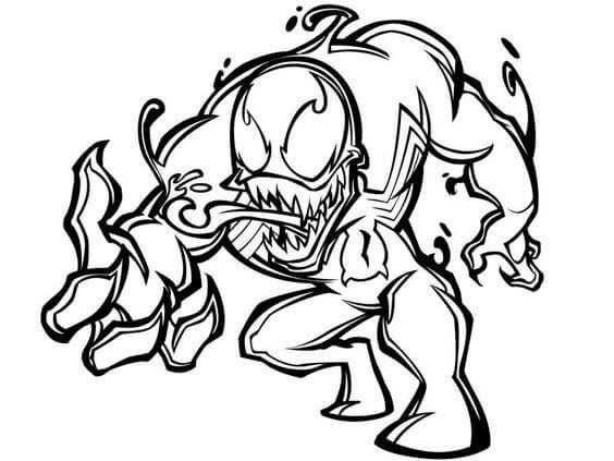 Venom Coloring Pages Printable Cartoon Coloring Pages Spiderman
