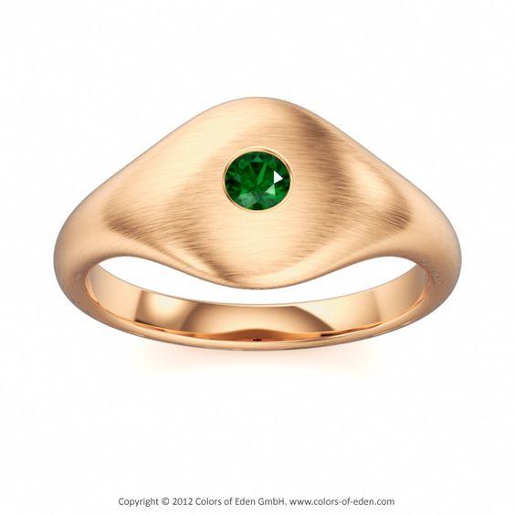 Rose Gold Ring #Green