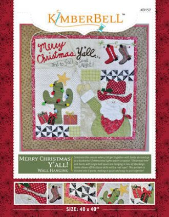 Merry Christmas Y'all Wall Hanging | Quilting Pattern | YouCanMakeThis.com