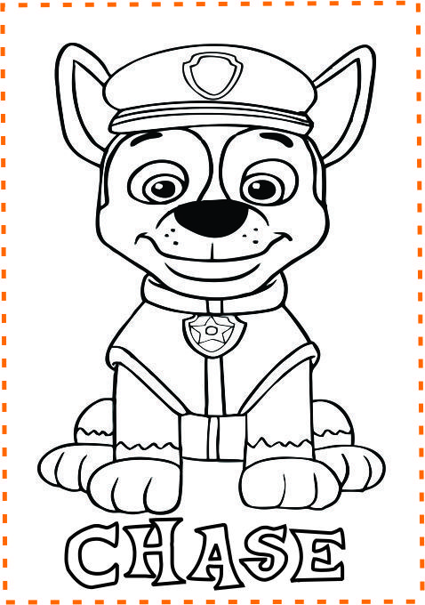 Pawpatrol Chase Coloring Pages Print Out Paw Patrol Chase Coloring Pages For Kids Chase Paw Patrol Coloring Paw Patrol Coloring Pages Bear Coloring Pages