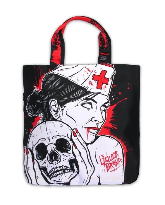 Liquor Brand Tasche/Tote Nurse,Tattoo, Biker, Pin Up, Oldschool,Cutom Styles