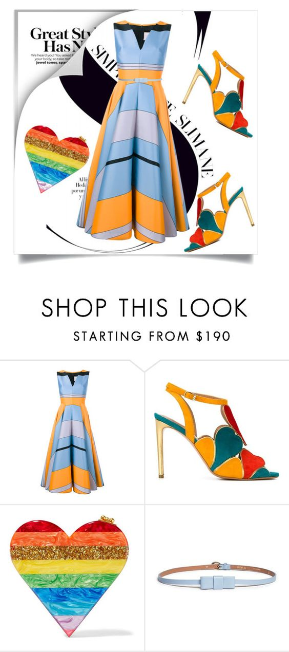 """""""860"""" by lilikiss ❤ liked on Polyvore featuring Roksanda, Jean-Michel Cazabat, Edie Parker and Maison Boinet"""