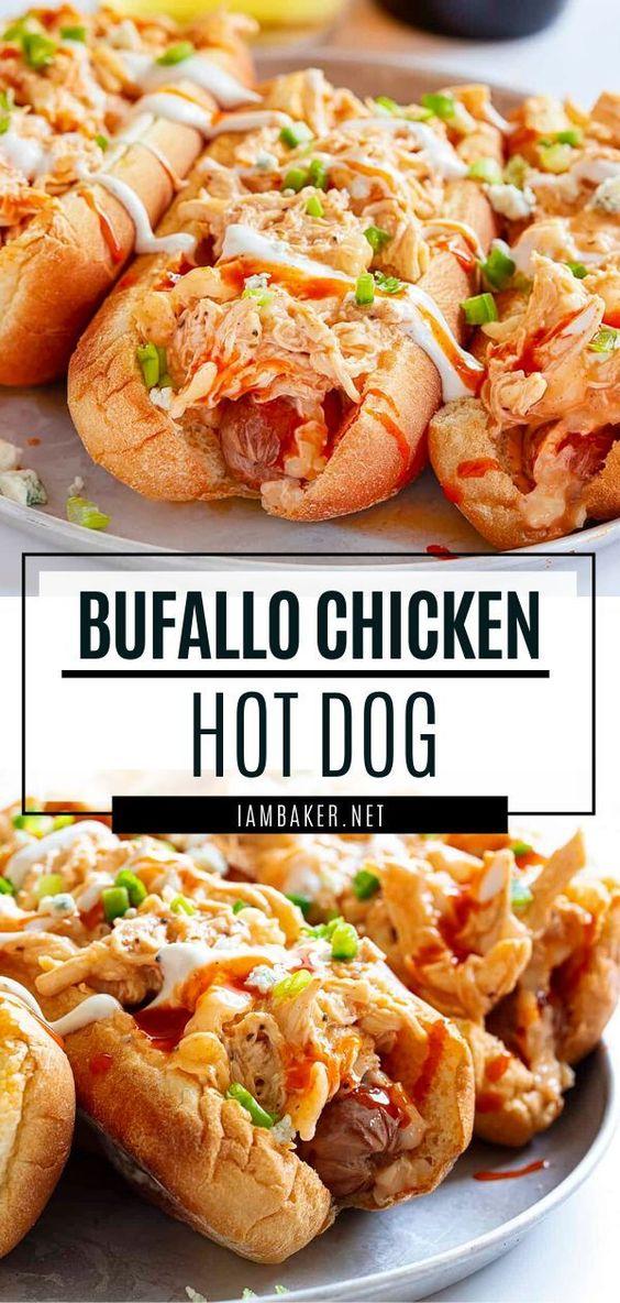 Buffalo Chicken Hot Dog