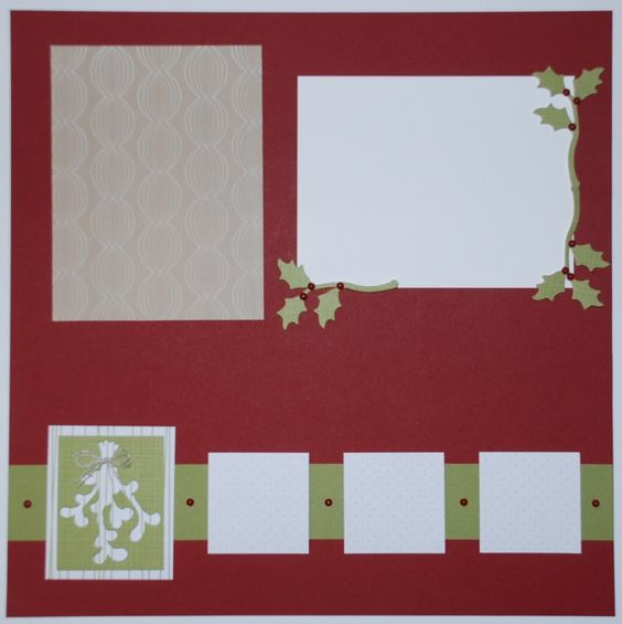Right Mistletoe Scrapbook Page