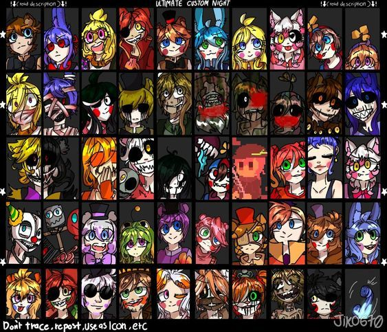 Ultimate Custom Night Humanization 50 20 By Jiko670 Anime Fnaf Fnaf Drawings Fnaf Art