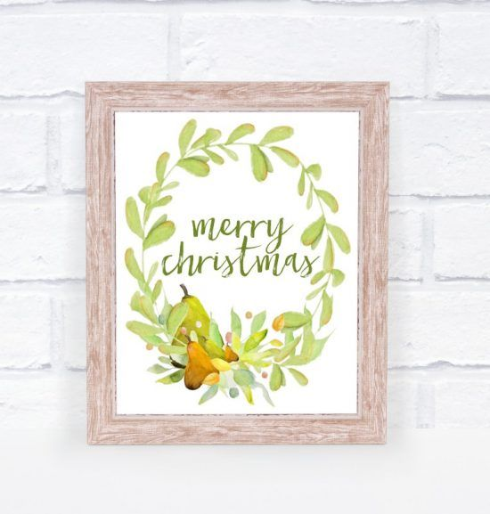 Free Christmas Printable Watercolor Art Free Christmas