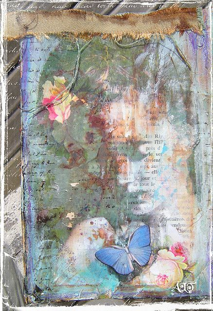 detail of an altered book