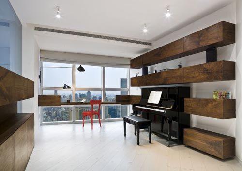 Contemporary musical room