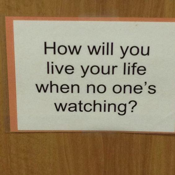Saw this at Andrew Wilson Charter School... Love it! Small lesson on integrity...