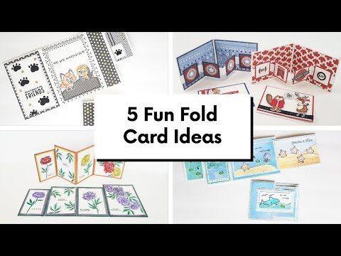 5 Fun Fold Card Ideas Youtube Fun Fold Cards Folded Cards Cards