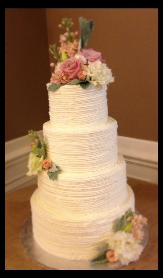 Line Texture Cake : Buttercream wedding cake texture and cakes on