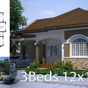 Modern Home Design 12x30 Meters 3 Bedrooms Arsitektur Rumah Modern Desain Rumah